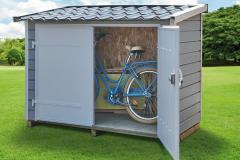 Abri-PVC-Clairval-range-tout-2m2-toit-monopente-coloris-gris-bleute