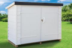 Abri-PVC-Clairval-range-tout-2m2-toit-monopente-pente-inversee-coloris-blanc